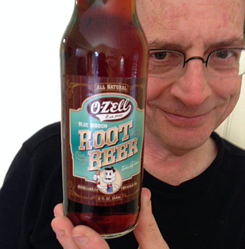 "O-Zell Root Beer.  Jerry Beck says ""It's Great!"""