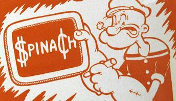 """Fleischer Promo Art #3: """"Popeye Sez!"""""""