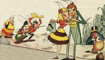 """""""Mr. Bug"""" and """"Hoppity"""" Go To Town"""