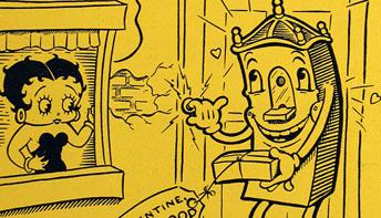 """Fleischer Promo Art #12: """"Betty Boop And The Little King"""""""