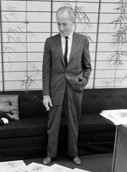 Dan Gordon at Hanna Barbera in the early 1960s.