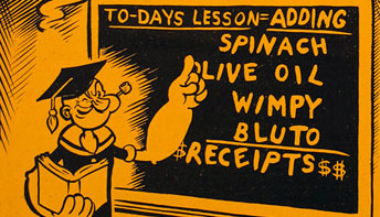"Fleischer Promo Art #13: ""Popeye Adds Up The Profits"""