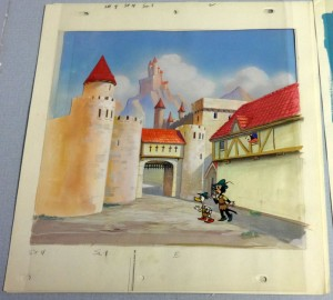 By sheer coincidence, animation art dealer Mike Van Eaton found some pieces of original art from Terryscopes. He hard no idea what these cels were from until I told him.