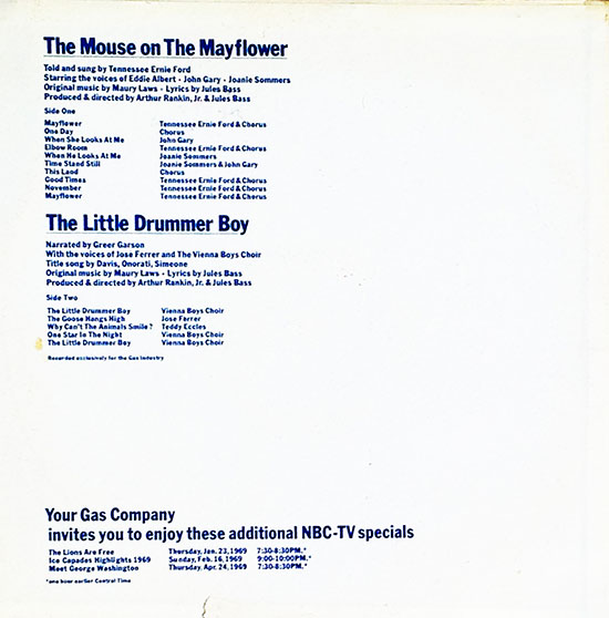 Back Cover of Album of the promotional LP