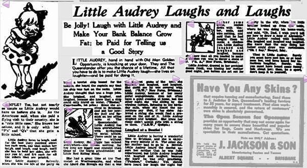 little-audrey-newspaper