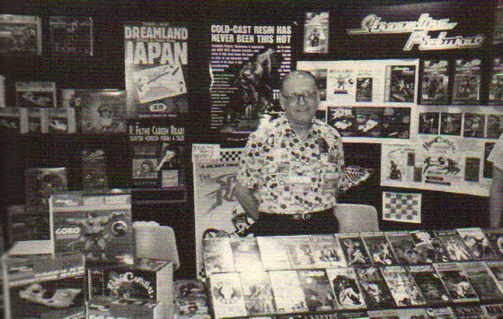 Here I am manning Streamline Pictures table at the 1996 Comic-Con