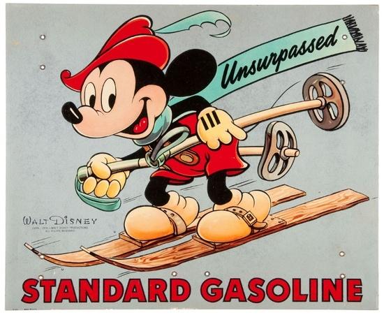 STANDARD GASOLINE MICKEY SKIING 1939 - 2