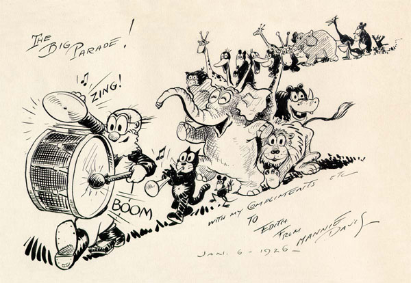 Mannie Davis drawing from the Fables era, circa 1926.