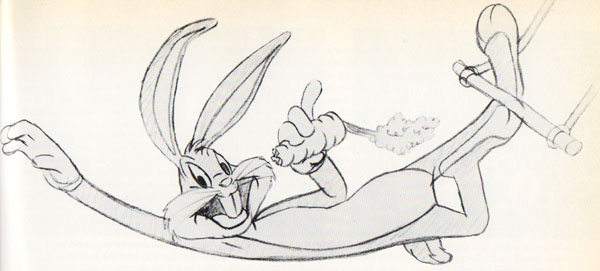 "pencil art from the title card of ""Acrobatty Bunny"""