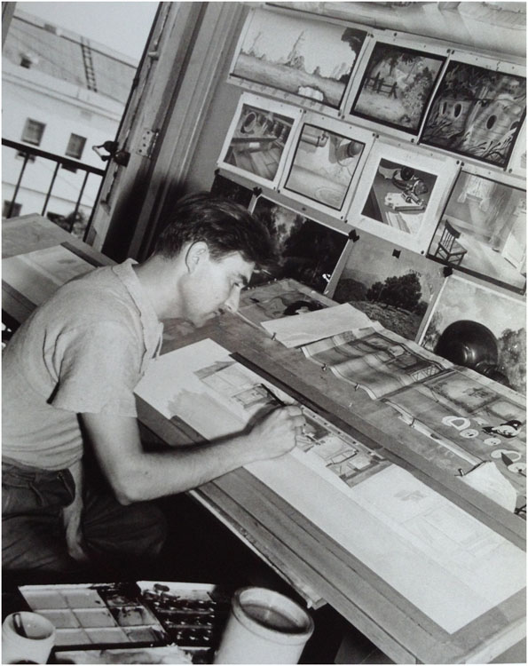 Ed Kiechle, at Universal, circa 1938