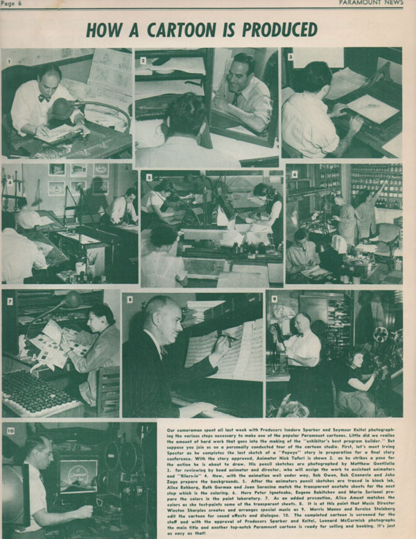 Here is the story on Famous Studios contained in this issue of Paramount News - click to enlarge