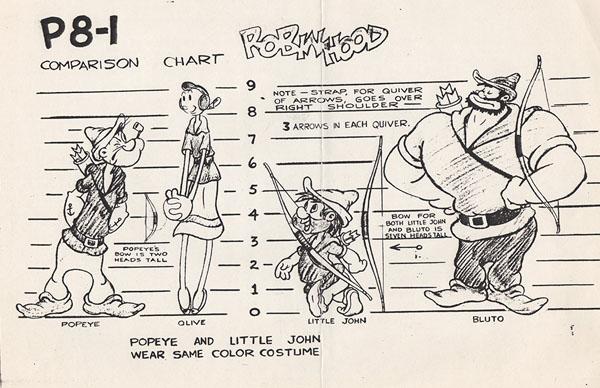 """A model sheet for """"Robin Hoodwinked"""""""