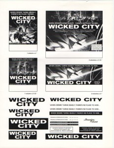 Theatrical advertising ad slicks (click to enlarge)
