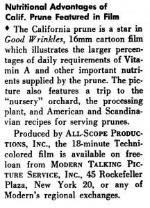 "The review of the ""Good Wrinkles"" which appeared in the 1953 Vol. 14 No. 1 issue of Business Screen Magazine."