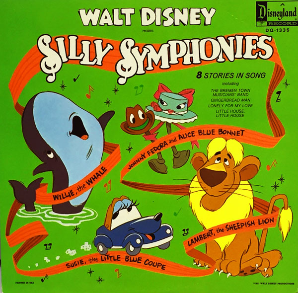 Disney S Bizarre 1971 Silly Symphonies Record Album