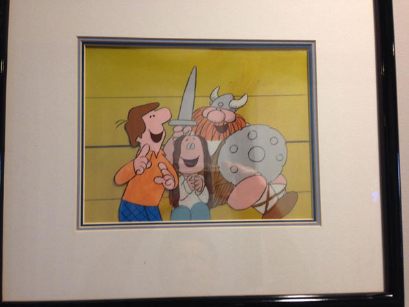 "Original animation cels from ""The Fantastic Funnies"""