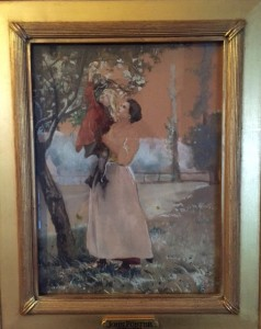 "Painting signed ""J. Foster, 1903"" (click to enlarge)"