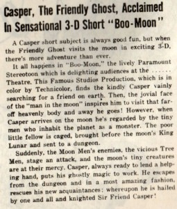 "This was a publicity story created to be planted locally by theaters playing ""Boo Moon""."