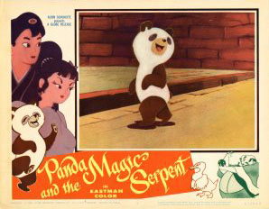 """""""The White Snake Enchantress"""" was released in the U.S. in 1961 as """"Panda And The Magic Serpent"""""""