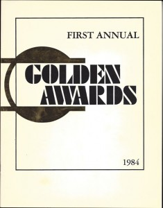 First Annual Golden Awards-1984-program-cover