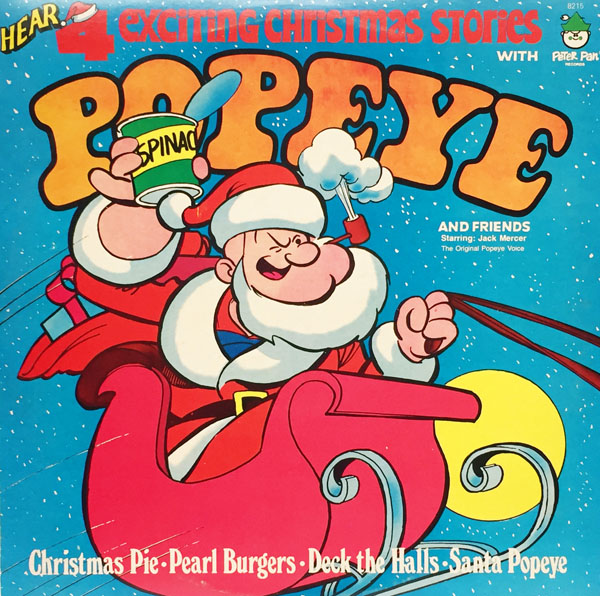 Christmas Records with Popeye, Superman, Batman & Wonder Woman |