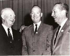 Left To Right: Dwight Eisenhower, his son David, and Walt Disney.