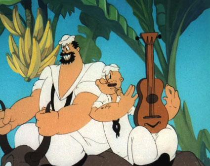 Vintage Popeye The Sailor Man GuitarMattel Music Maker |Popeye Guitar