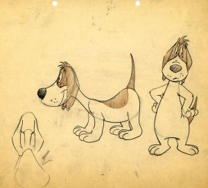 Barnyard Dawg model sheet is from collector Paul Bussolini (click to enlarge).