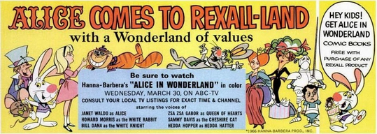 HB Alice Rexall Flyer Front