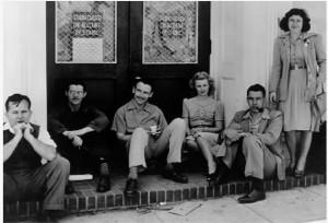 Martha (at right) with sticking Warner Bros. animators.
