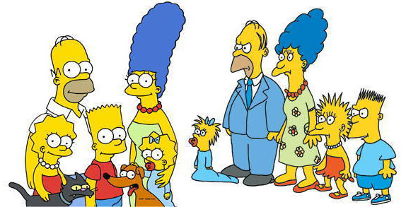 new-and-old-simpsons
