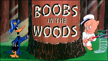 "Porky and Daffy in ""Boobs In The Woods"" (1950)"