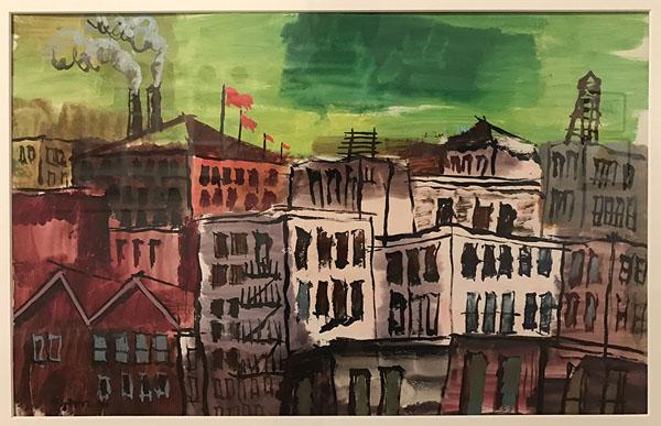 "Byron Randall ""Cityscape Of New Guinea"" (1944)"