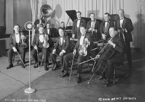 Shilkret (center holding baton) with the Victor Salon Orchestra, c. 1925