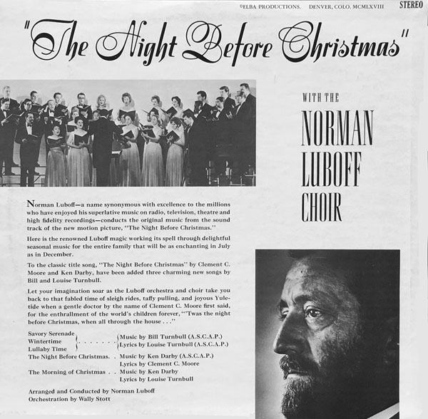 "Playhouse Pictures' ""The Night Before Christmas"" (1968) on Records 