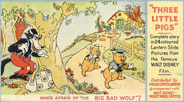 Disney big bad wolf three little pigs