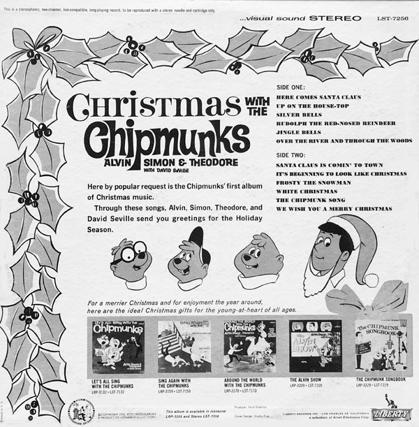 cmaschipvol1back 600 - Alvin And The Chipmunks Christmas Songs
