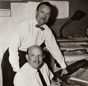 Pratt (standing) and Freleng (sitting)