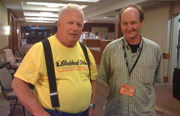 David Shepard and Steve Stanchfield, at Cinefest 2012.