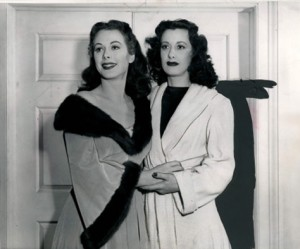 Hedy Lamarr (left) and Sylvia Lamarr (right)