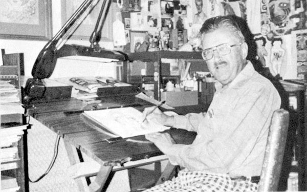 Dave Tendlar in later years at Hanna Barbera