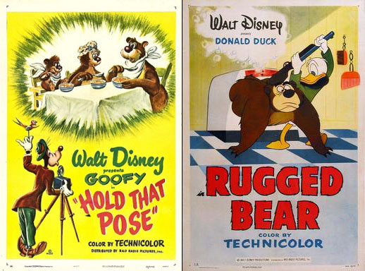 In The 1953 Donald Duck Short Subject Rugged Bear We See Humphrey That Aunces Came To Love This Hides S Cabin