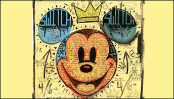 100 Paintings of Mickey Mouse by a Color-Blind Pop Artist