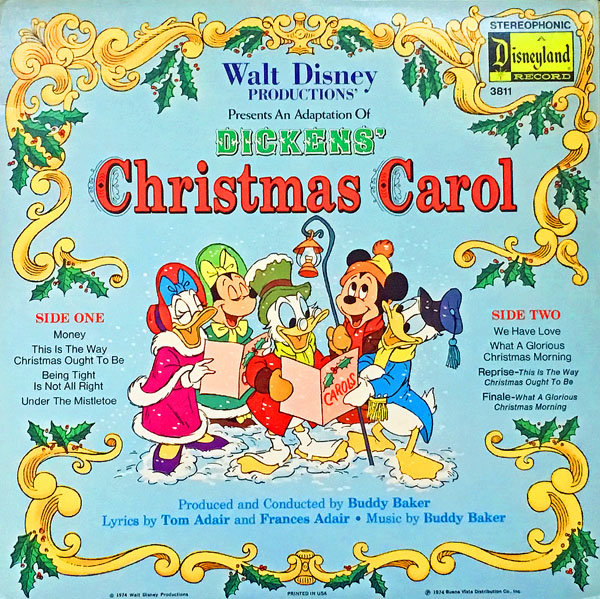 Disney S Lost Mickey S Christmas Carol Record Album