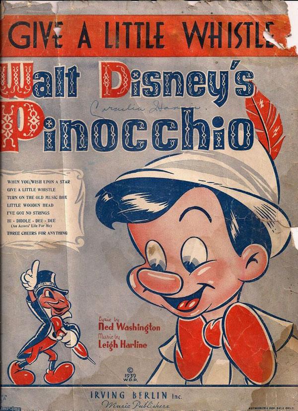 "Lyric pinocchio lyrics : The ""Pinocchio"" Song Book |"