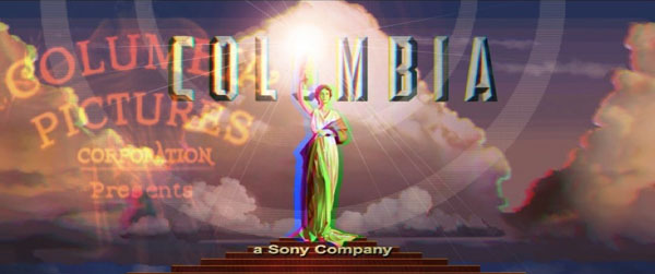 """The Trippy Columbia Logo Art In """"Spider-Man Into The"""