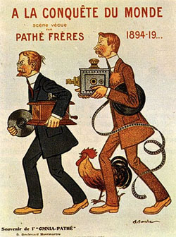 an ad for the Pathé company in its early days