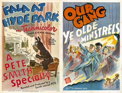 MGM Pete Smith and Our Gang posters by the same mysterious artist