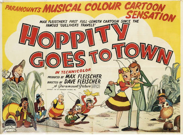 "The original 1942 British release poster for ""Hoppity Goes To Town"""