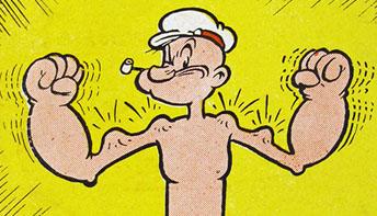 """Fleischer Promo Art #7: """"Popeye Power!"""""""
